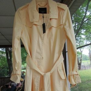 Stunning Yellow NWT TALBOTS Trench Coat 6P New